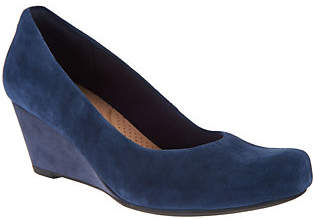 Clarks Leather or Suede Wedge Pumps - FloresTulip