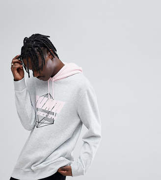 Puma Layered Hoodie In Gray Exclusive To ASOS