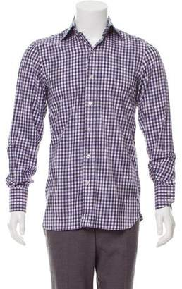 Tom Ford Woven Checkered Shirt