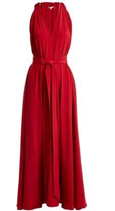 KALITA Camille tie-waist silk dress