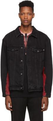 Marcelo Burlon County of Milan Black Tie-Dye Denim Jacket