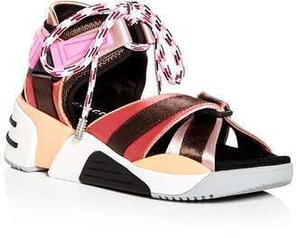 Marc Jacobs Women's Somewhere Satin Platform Wedge Sport Sandals