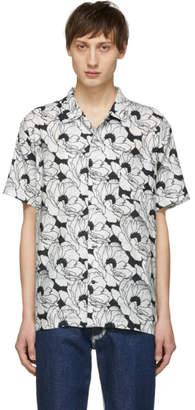 Double Rainbouu White and Black Nu Romance Hawaiian Shirt
