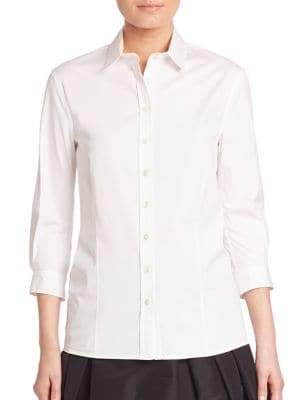Carolina Herrera Classic Cotton Blouse
