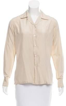 Christian Dior Silk Button-Up Top