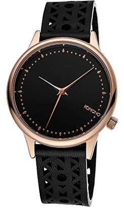 Komono Women's 'Estelle Cutout' Quartz Stainless Steel and Leather Dress Watch