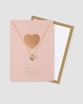Hammered Heart Necklace Gift Envelope