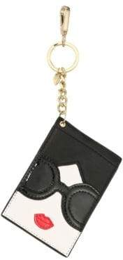 Alice + Olivia Lobster Clasp Leather Card Case