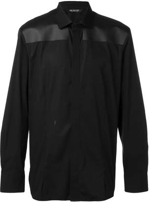 Neil Barrett contrast panel shirt