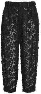 Dolce & Gabbana Dolce& Gabbana Women's Lace Embroidery Crop Pants - Black - Size 38 (2)
