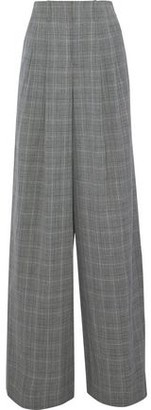 Alice + Olivia Eloise Pleated Houndstooth Wool-Blend Wide-Leg Pants