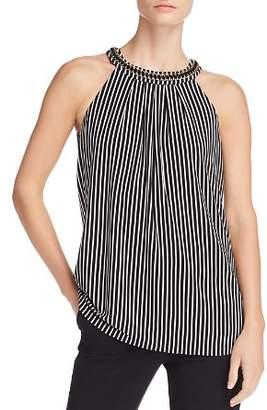 Calvin Klein Chain Trim Stripe Top