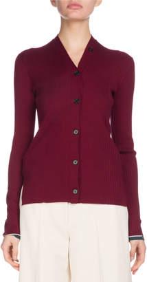 Proenza Schouler Button-Down Fine Gauge Cashmere Cardigan