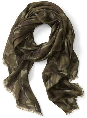 Banana Republic Camouflage Print Rectangle Scarf