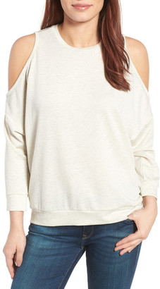 Caslon Cold Shoulder Sweatshirt $49 thestylecure.com