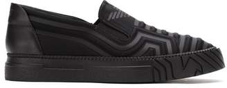 Emporio Armani quilted slip-on sneakers