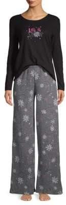 Hue Two-Piece Burr-Lizzard Pajama Set