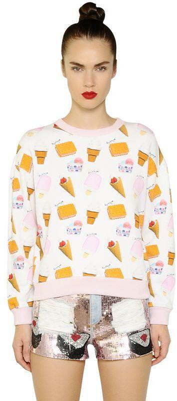 Au Jour Le JourIce Cream Printed Cotton Sweatshirt