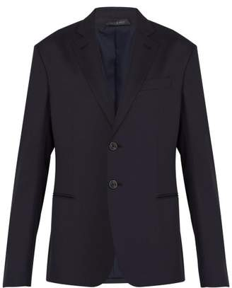 Giorgio Armani Slim Fit Virgin Wool Suit Jacket - Mens - Navy