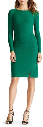 Lauren Ralph Lauren Ruched Dress $139 thestylecure.com