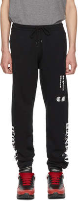 Marcelo Burlon County of Milan Black MBCM Lounge Pants