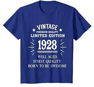 Vintage 1928 Shirt Funny 90 Years Old 90th Birthday Gift