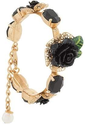Dolce & Gabbana rose appliqué bracelet