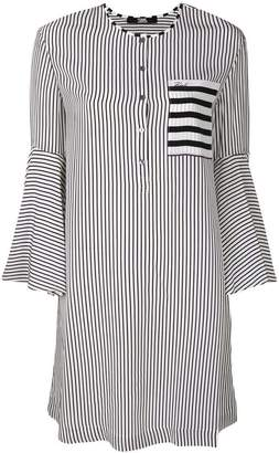Karl Lagerfeld striped bell sleeved dress