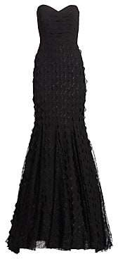 Badgley Mischka Women's Wave Lace Gown - Size 0