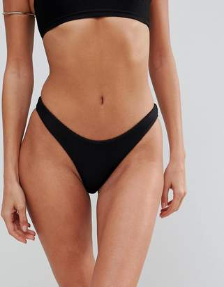 Lepel London Ribbed High Leg Bikini Bottom