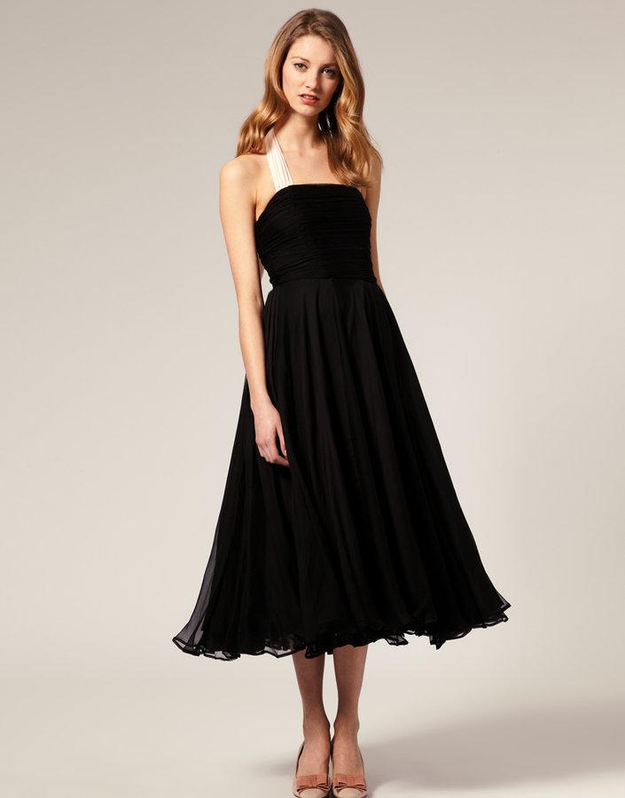 ASOS SALON Halter Prom Dress