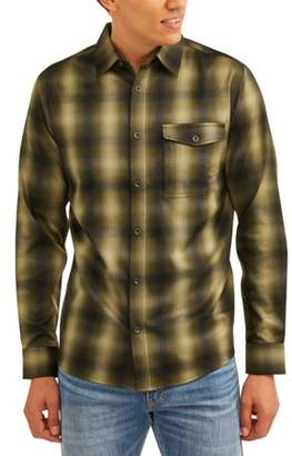 Swiss+Tech Men's Long Sleeve Poly Flannel