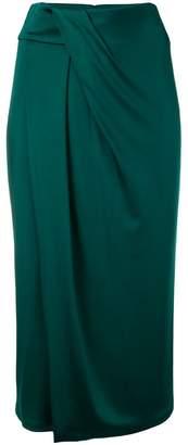 Cushnie wrap effect midi skirt