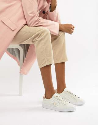 Fred Perry B721 Leather Sneakers With Rose Gold Trim