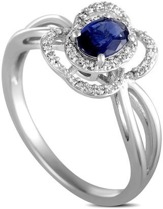 Generic Gemstones 14K 0.15 Ct. Tw. Diamond & Sapphire Ring