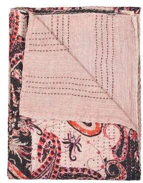 TAJ HOTEL Kantha Quilted Cotton Throw