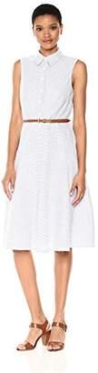 Donna Morgan Women's Drop Waist Shirt Dress