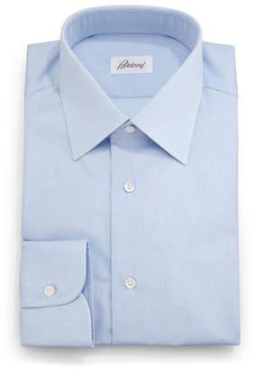 Brioni Textured Solid Dress Shirt, Light Blue
