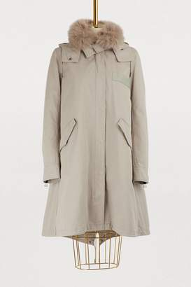 Yves Salomon Army Fur-lined cotton parka