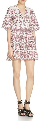 Maje Rember Eyelet Scalloped Dress $495 thestylecure.com