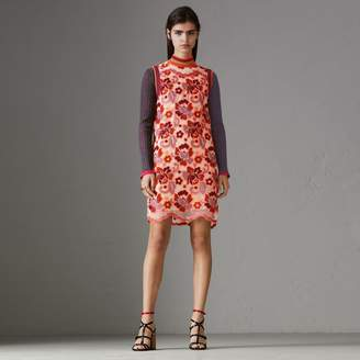 Burberry Floral Crochet Shift Dress