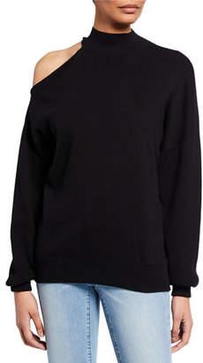 MICHAEL Michael Kors Long-Sleeve Shoulder Cutout Turtleneck Top