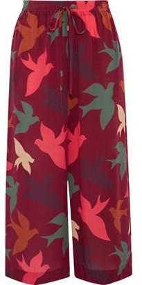 RED Valentino Printed Silk Crepe De Chine Culottes