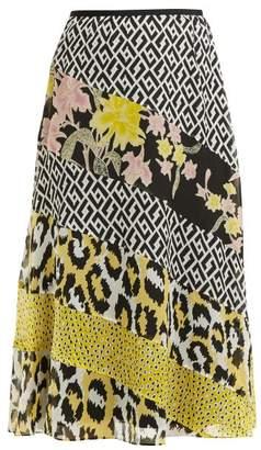 Diane von Furstenberg Darcie Printed Panel Silk Midi Skirt - Womens - Ivory Multi