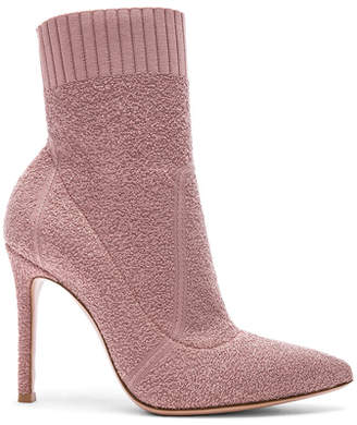Gianvito Rossi Boucle Knit Fiona Ankle Booties