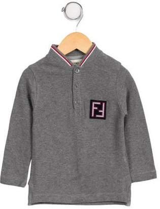 Fendi Boys' Knit Logo Shirt