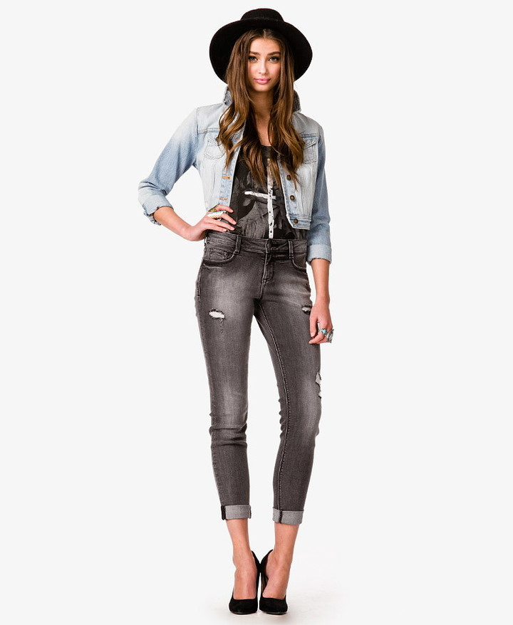 Forever 21 Distressed Skinny Jeans