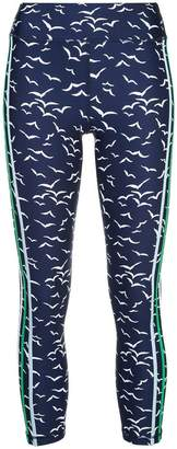 The Upside side stripe print leggings