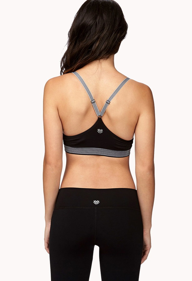 Forever 21 Low Impact Striped Sports Bra