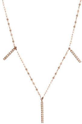 Lana Flawless Vol. 6 Triple Diamond Bar Necklace in 14K Rose Gold